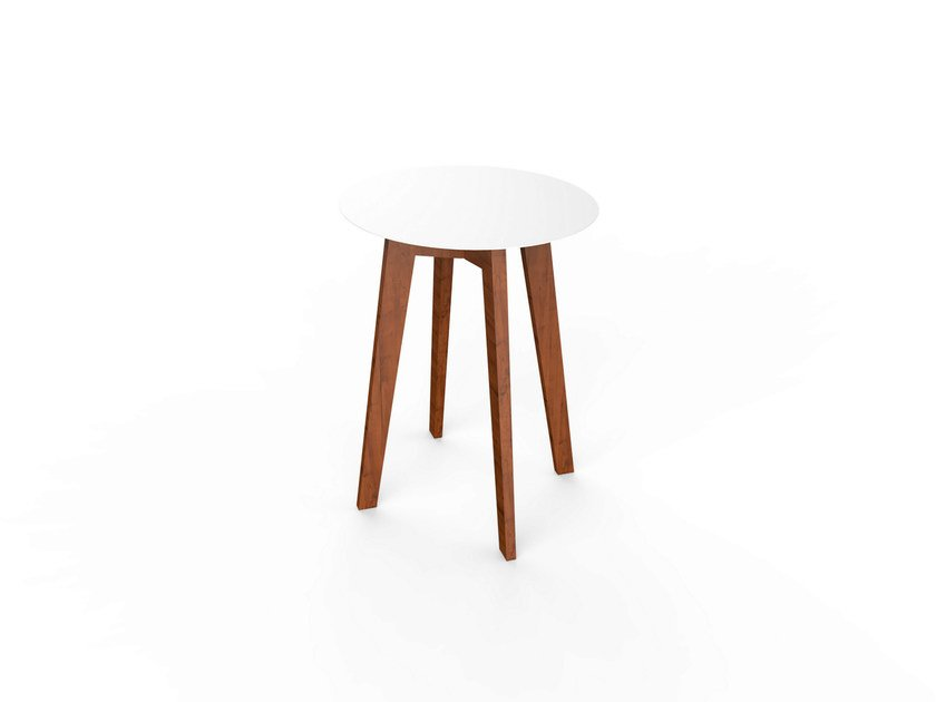 Round Corian® table SLIM WOOD TABLE 64 by VITEO