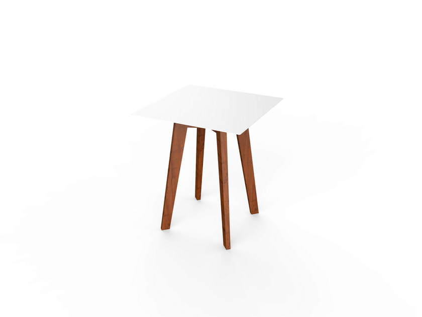 Square Corian® table SLIM WOOD SQUARE TABLE 64 by VITEO