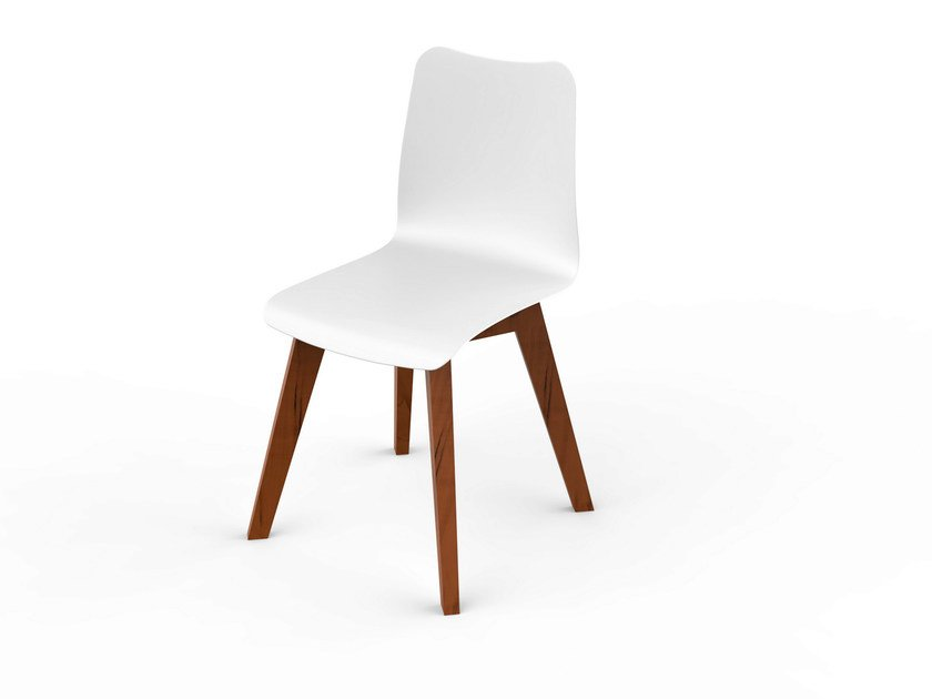 Corian® garden chair SLIM WOOD | Chair by VITEO