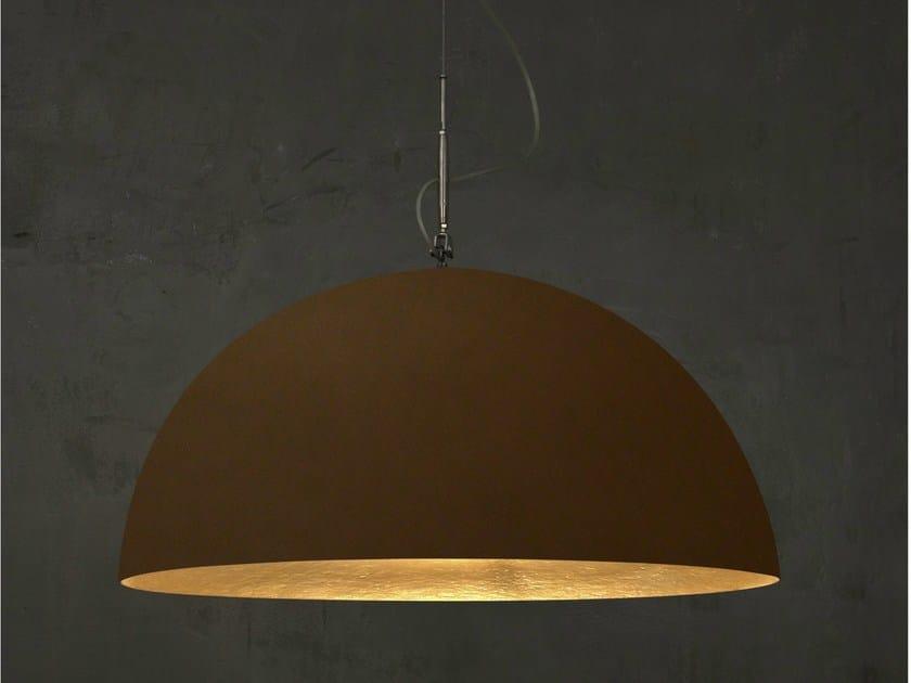 Bronze pendant lamp MEZZA LUNA 1 BRONZO by In-es.artdesign