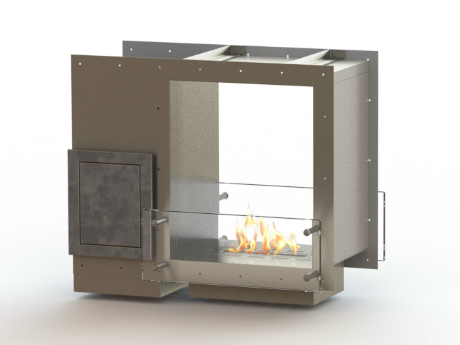 Open built-in bioethanol fireplace GLAMMBOX 420 DF CREA7ION by GlammFire