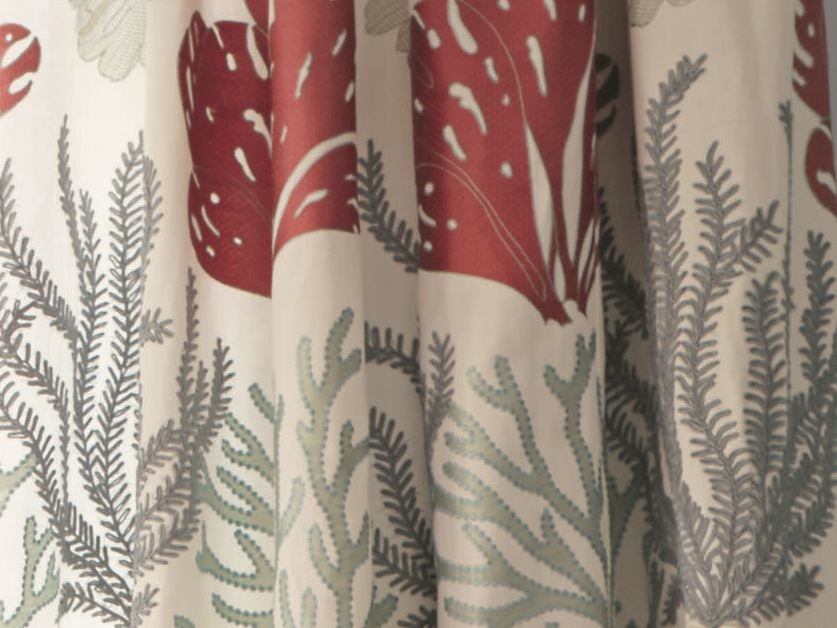 Embroidered fabric for curtains SEA ISLAND | Fabric for curtains by Zimmer + Rohde