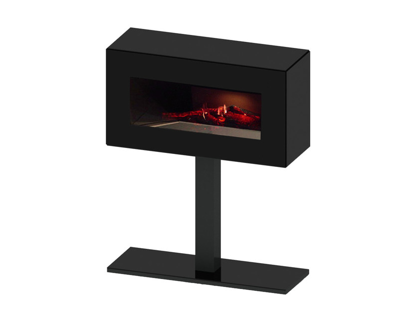 Electric freestanding MDF fireplace with remote control ILLUSION by GlammFire