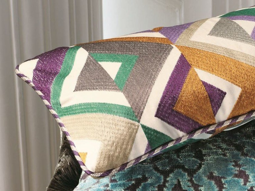 Multi-colored upholstery fabric with graphic pattern ARA | Upholstery fabric by Zimmer + Rohde