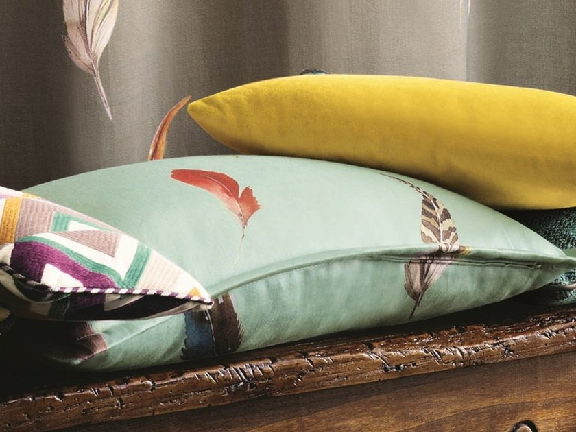Linen upholstery fabric BIRDS GALLERY | Upholstery fabric by Zimmer + Rohde