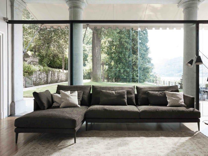 Sofa with chaise longue PARAISO | Sofa with chaise longue by Bonaldo