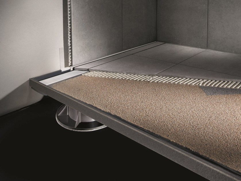 Contemporary style flush fitting rectangular shower tray SLOPE DRAIN by PROFILITEC