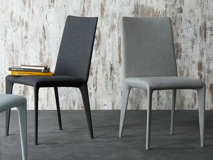 Upholstered chair with removable cover FILLY   Fabric chair by Bonaldo