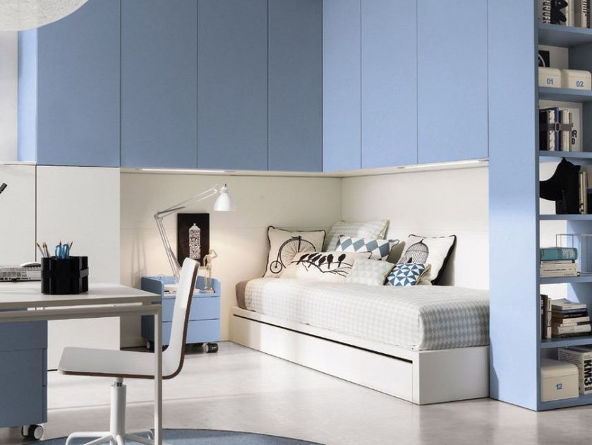 Cameretta A Ponte Zalf.Teenage Bedroom With Bridge Wardrobe Z324 By Zalf