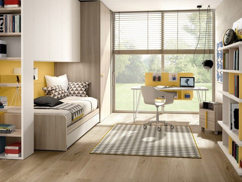 Cameretta A Ponte Zalf.Teenage Bedroom With Bridge Wardrobe Z478 By Zalf