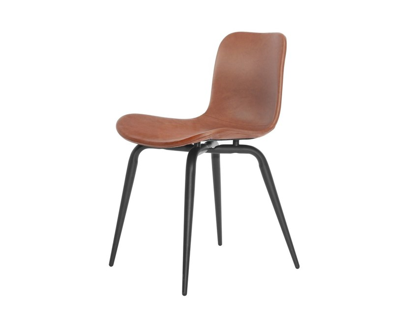 Scandinavian style tanned leather chair LANGUE AVANTGARDE   Tanned leather chair by NORR11