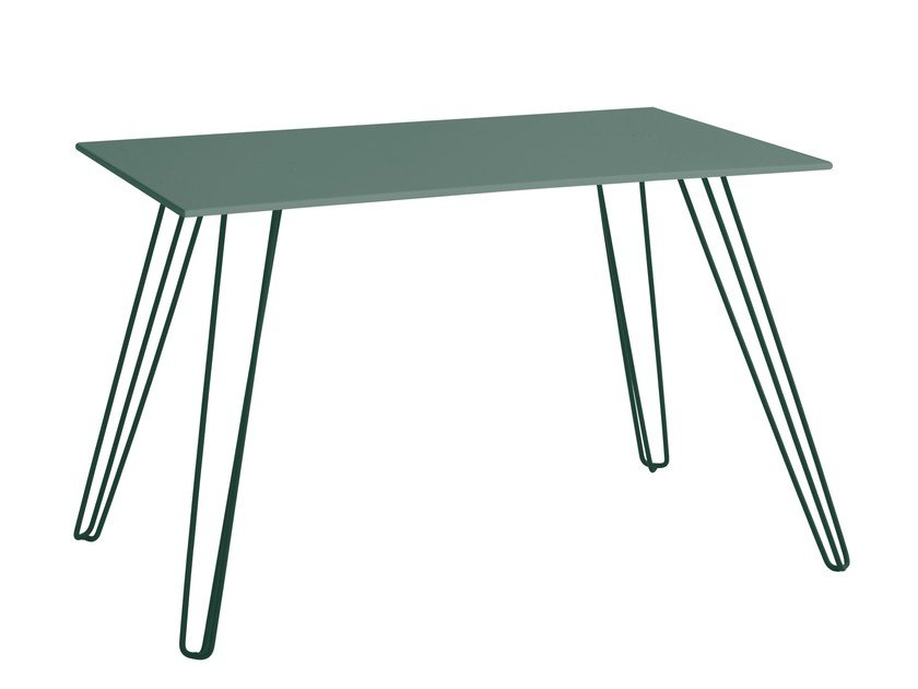 Rectangular galvanized steel garden table MENORCA   Table by iSimar