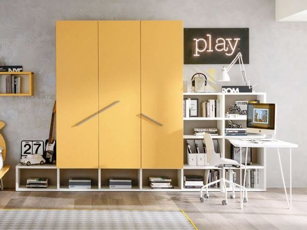 Sectional lacquered wardrobe MONOPOLI | Sectional wardrobe by Zalf