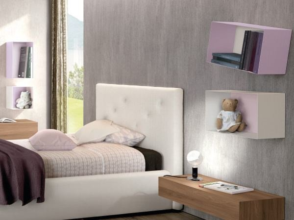 Lacquered metal wall cabinet SHAPE by Zalf