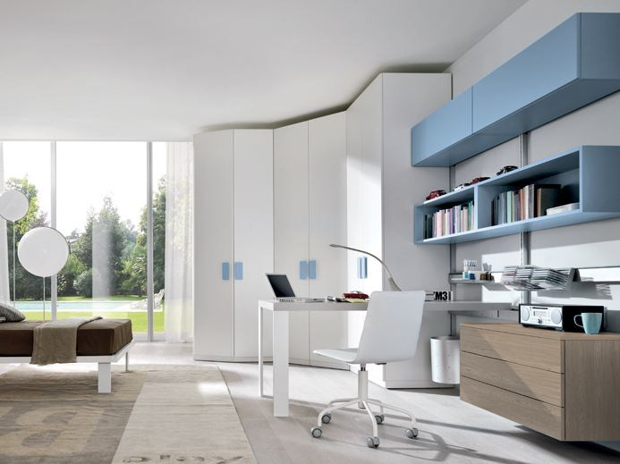Contemporary style wall-mounted bookcase PICÀ MINUS by Zalf