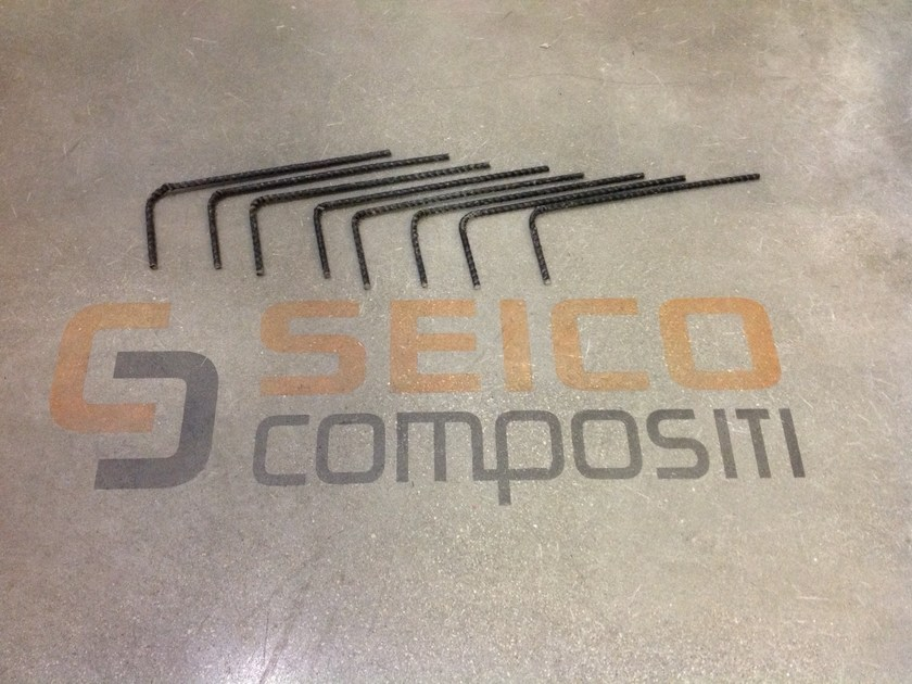 Steel bar, rod, stirrup for reinforced concrete BASALFIX L10/30 by Seico Compositi