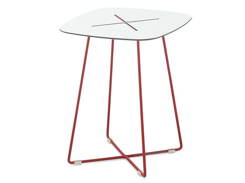 Square coffee table CROSS-QA_QB | Tavolino quadrato by DOMITALIA