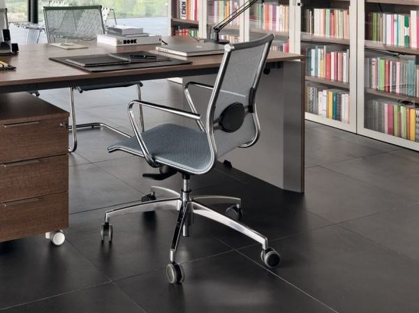 Task chair with armrests with casters CALLA by Zalf