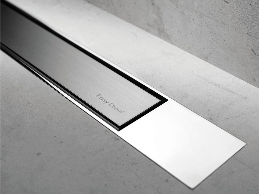 Metal shower channel MODULO DESIGN Z-2 BRUSHED + CHROME by ESS Easy Drain