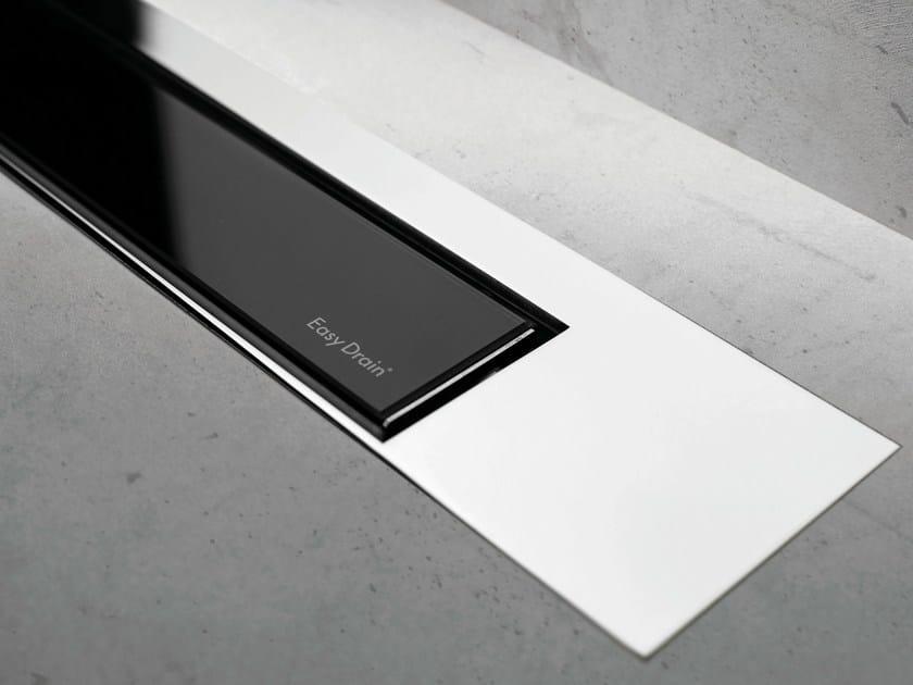 Shower channel MODULO DESIGN Z-3 BLACK GLASS + CHROME by ESS Easy Drain