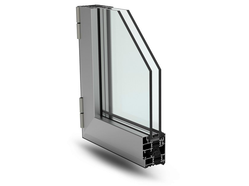 With concealed fittings window PLANET 62 HI by ALsistem