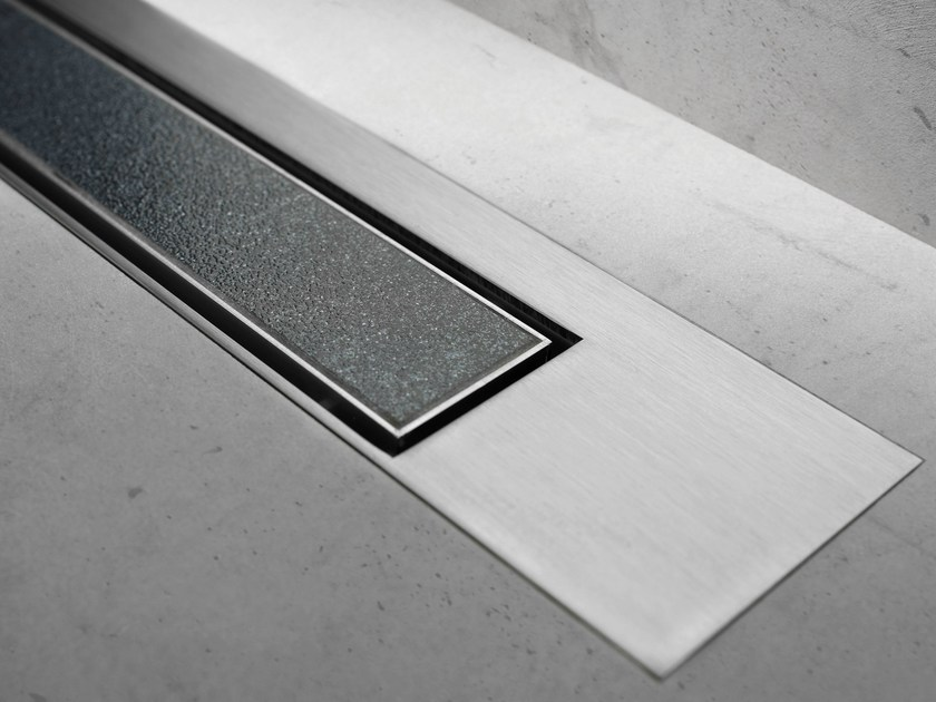 Shower channel MODULO DESIGN Z-3 TILE + BRUSHED by ESS Easy Drain