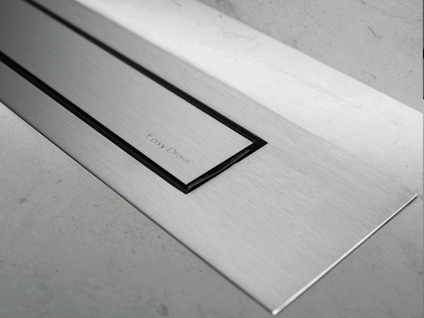 Steel shower channel MODULO DESIGN Z-4 BRUSHED + BRUSHED by ESS Easy Drain