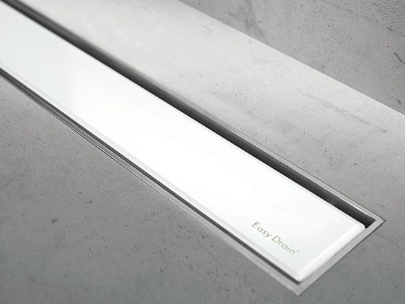 Shower channel MODULO TAF WHITE GLASS by ESS Easy Drain