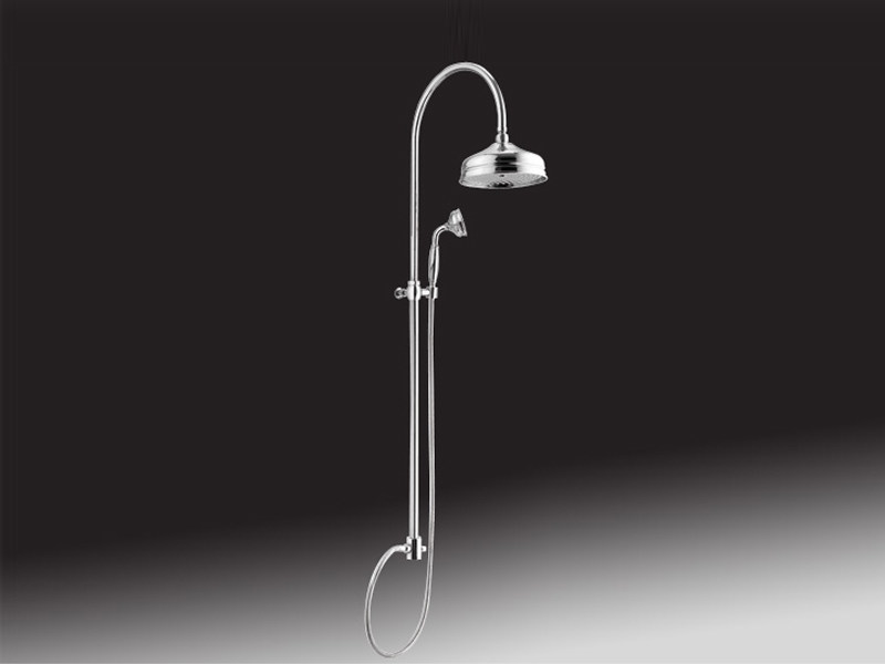 Wall-mounted shower panel with overhead shower 1651   Shower panel by Rubinetteria Giulini