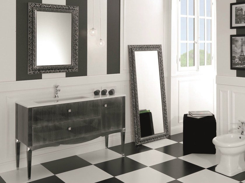 Floor-standing vanity unit with drawers DEDALO 001 by Mobiltesino