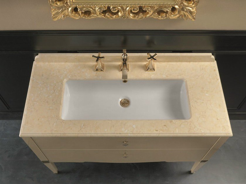 Console sink with drawers DEDALO 004 by Mobiltesino