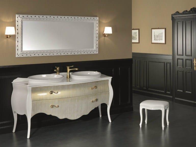 Consolle lavabo doppio freestanding in legno in stile classico con cassetti MEMORY 18 - Mobiltesino