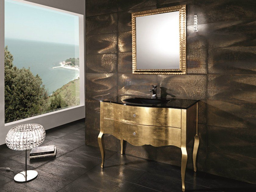Console sink with drawers ADAM 03 by Mobiltesino