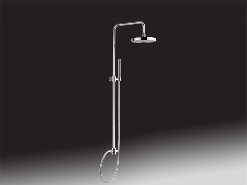 Wall-mounted shower panel with overhead shower 1650 | Shower panel by Rubinetteria Giulini