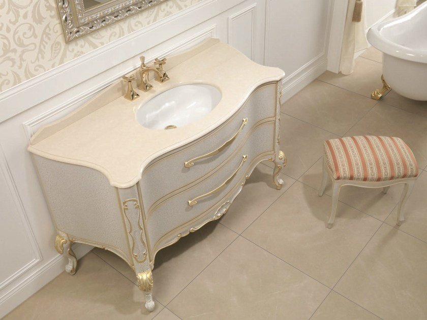 Console sink with drawers NABUCCO 01 by Mobiltesino