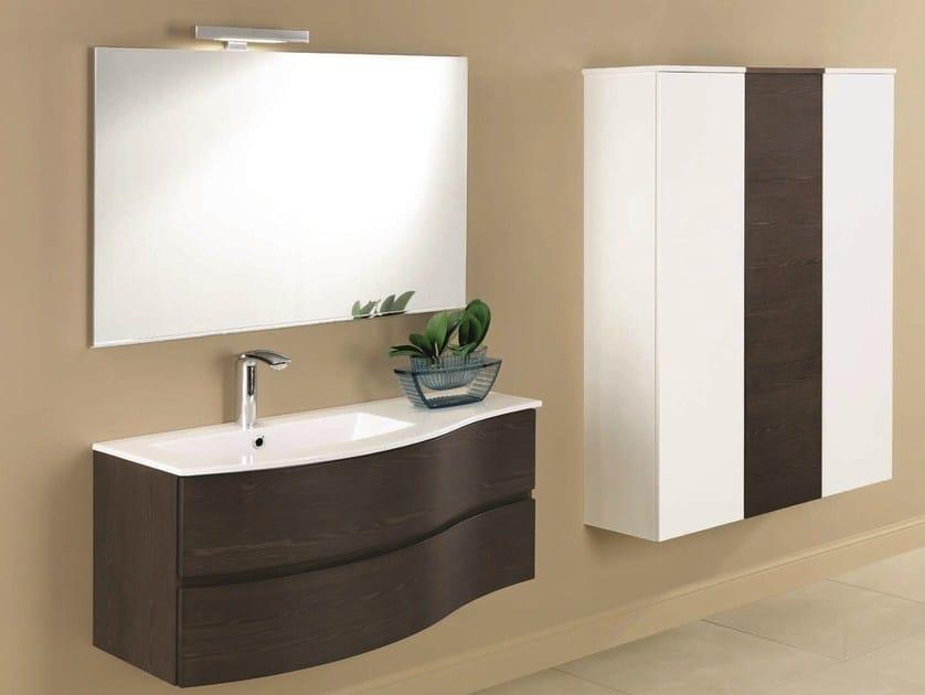 mobile lavabo singolo con cassetti unico 11 by mobiltesino - Mobiltesino Arredo Bagno