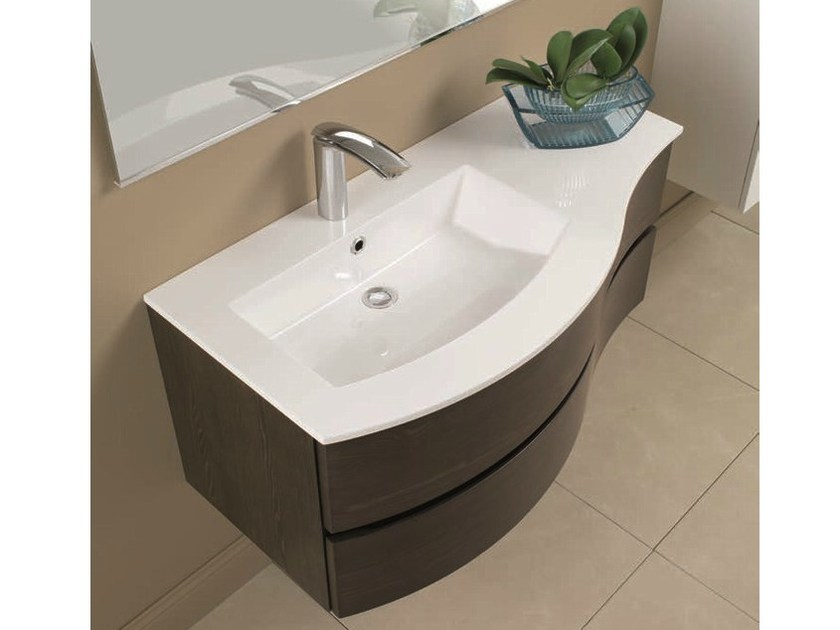 Single vanity unit with drawers UNICO 11 by Mobiltesino