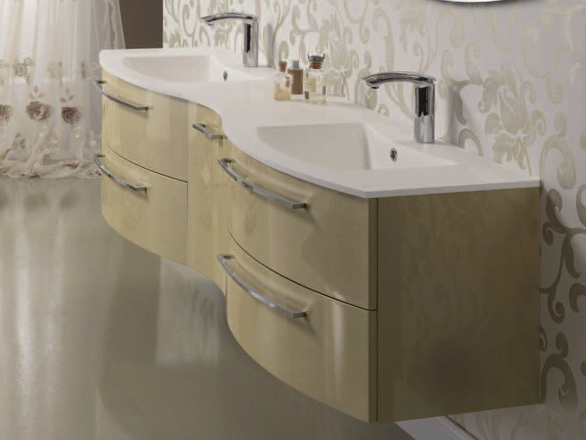 Sectional double vanity unit F139 by Mobiltesino
