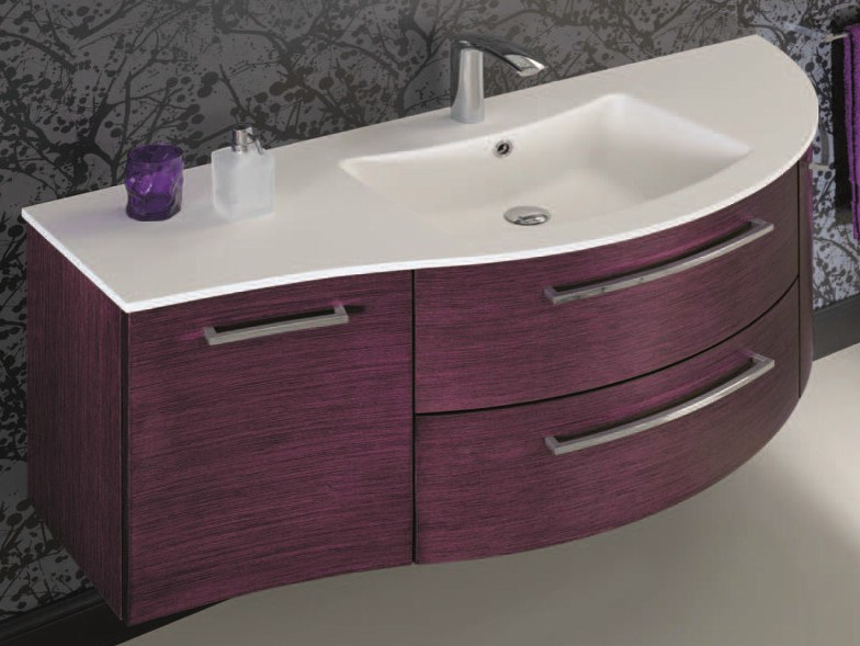 Vanity unit with doors with drawers F143 by Mobiltesino