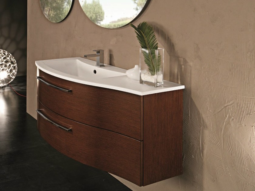 Single vanity unit with cabinets F137 by Mobiltesino