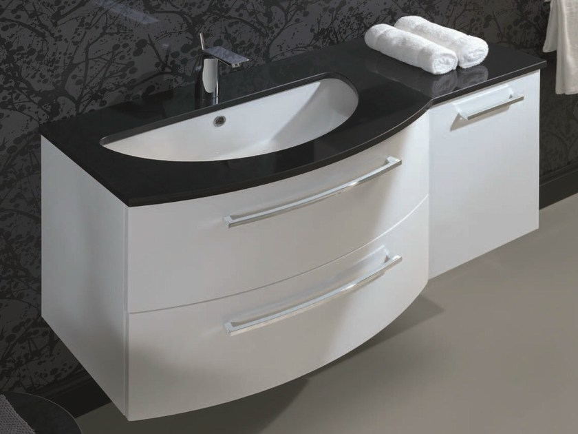 Single vanity unit with drawers F146 by Mobiltesino