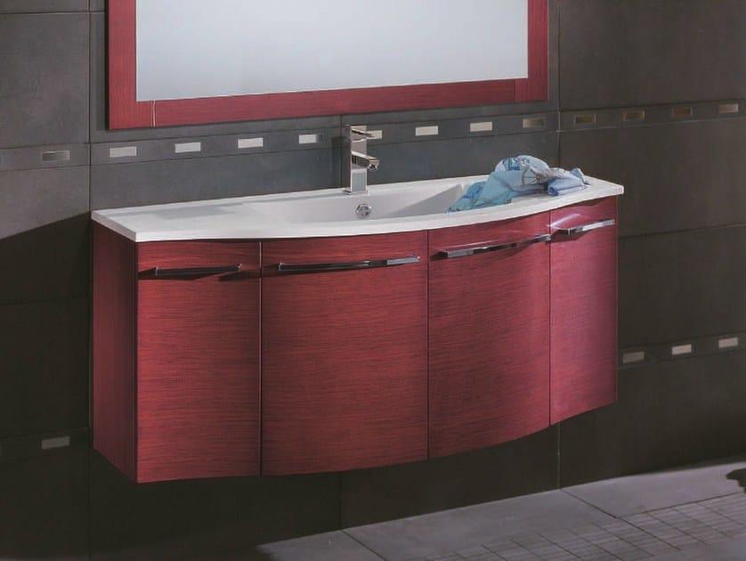 Single wall-mounted vanity unit F121 by Mobiltesino