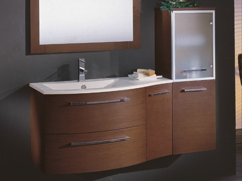 Single vanity unit with drawers F128 by Mobiltesino
