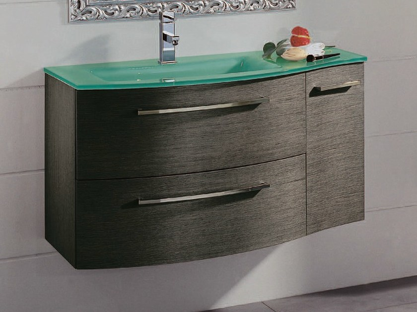 Single vanity unit with drawers F136 by Mobiltesino