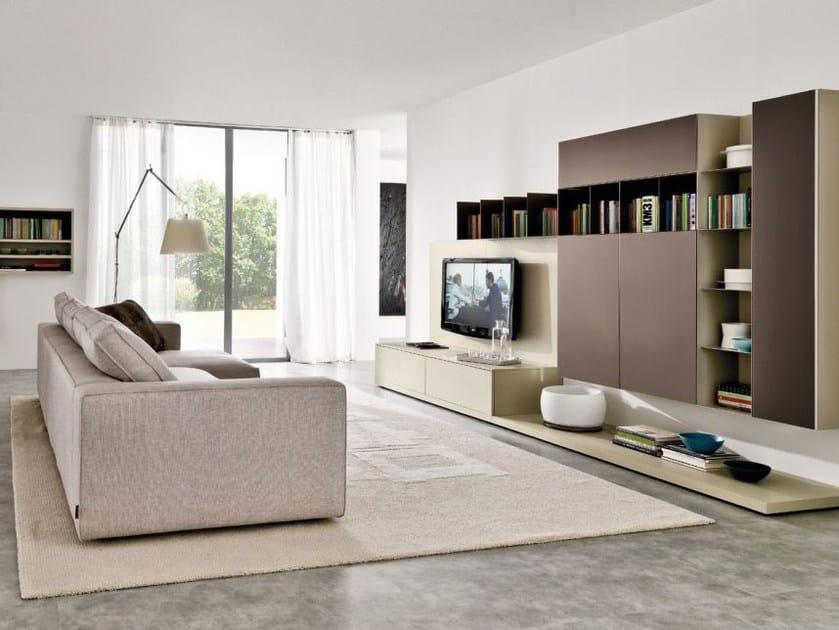 Modular TV wall system Z033-Z034 by Zalf