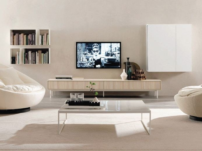 Wooden sideboard with drawers BRUCKE by Zalf