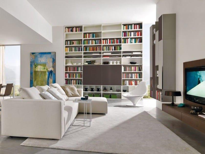 Lacquered modular bookcase Z103 by Zalf