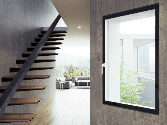 Fibex casement window Serie 500 H Total Glass by Agostinigroup