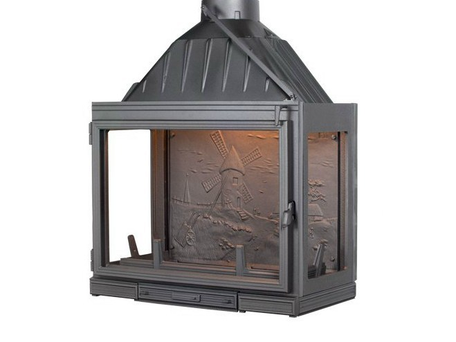 Cast iron Fireplace insert with Panoramic Glass MULTIVISION 8000 by CHEMINEES SEGUIN