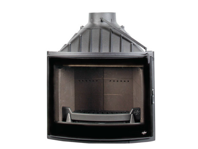 Cast iron Fireplace insert with Panoramic Glass PANO 7 by CHEMINEES SEGUIN